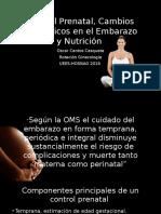Control Prenatal, Cambios Fisiológicos en El Embarazo