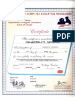 PGDCA CERTIFICATE CHANDRAKANT