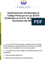 Modificaciones Al Codigo Penal Ley 20.074