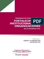 Fortalecimiento institucional para organizaciones