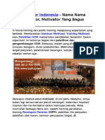 Motivator Indonesia, Nama Nama Motivator, Motivator Yang Bagus