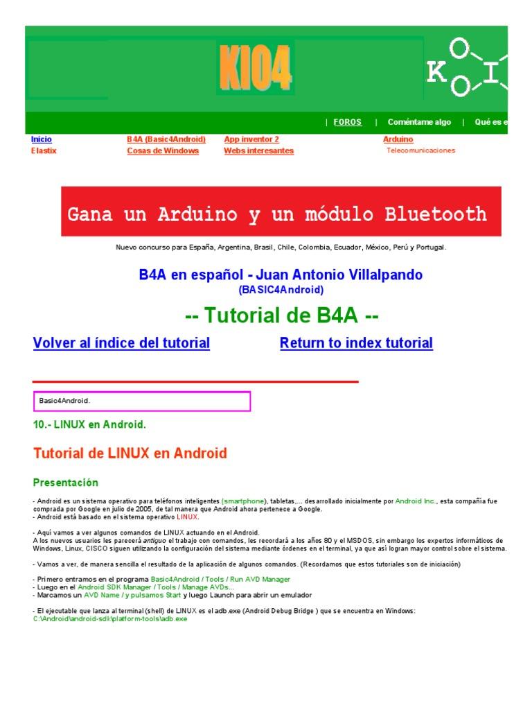 adb comandos   Android (Sistema operativo)   Archivo de computadora
