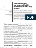 A Distributed Parameter Electromechanical Model for Cantilevered Piezoelectric Energy Harvesters
