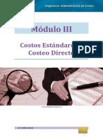 Administración de Costos MÓDULO III
