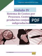 Administración de Costos MÓDULO IV