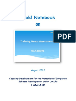 10 Field Notebook on Training Needs Assessment