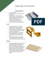 Dfm Sheet Metal