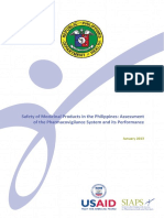 Safety of Medicinal Products in the Philippines Assessment of the Pharmacovigilance System and Its Performance