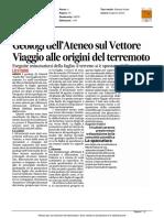 Geologi dell'Ateneo sul Vettore. Viaggio alle origini del terremoto - Il Corriere Adriatico del 4 settembre 2016