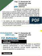 Cap. 7- Demanda de Energia de uma Instalacoes Elétrica_modificado.pptx