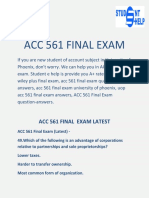 ACC 561 Final Exam:ACC 561 Final Exam Questions And Answers | Studentehelp