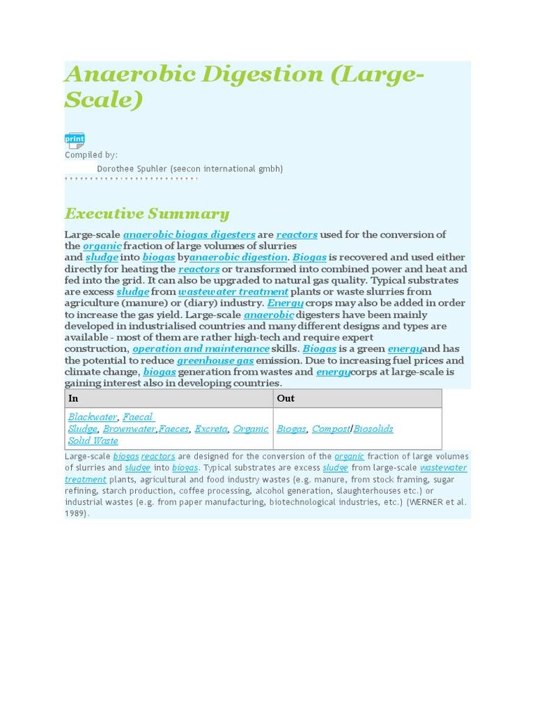 Anaerobic Digestion | Anaerobic Digestion | Biogas