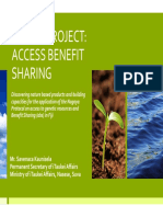 Fiji GEF Project Access Benefit Sharing