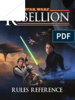 Star Wars Rebellion Board game Rules Reference