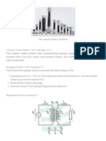 Trafo Tegangan (Voltage Transformer) - IlmuListrik