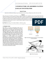Characterization of Reflectors and Absorber Coatings for Solar Concentrators
