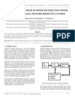 Design of Three Phase Inverter Fed Induction Motor Drive Using Neural Network Predictive Control