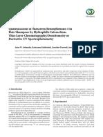 Quantification of BZ-4 sunscreen