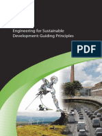 Guiding Principles of Engineering for Sustainable Development and Application of Principles