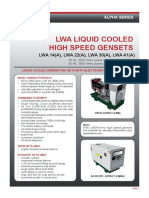 10611 TDS LWA High Speed Genset