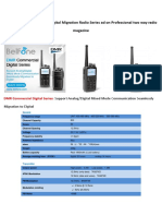 BelFone DMR Commercial Digital Migration Radio Series Ad on Professional Two Way Radio Magazine