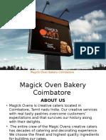 Magickoven Bakery Coimbatore