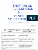 Vent Calculation and Device Specifications