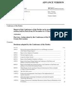 Decisions of Paris COP