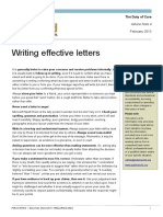 Writing Effective Letters