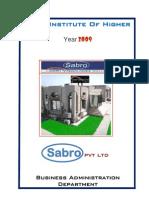 FINAL Report on Sabro