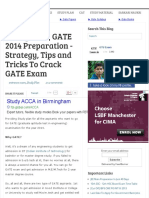 [Study Plan] GATE 2014 Preparation - Strategy, Tips and Tricks to Crack GATE Exam