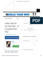 Indian Diet for Six Pack Abs - A Complete Diet Plan