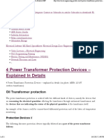 4 Power Transformer Protection Devices Explained in Details _ EEP