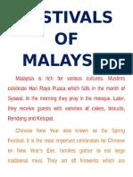 Festivals of Malaysia