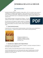 Istoria Crestimismului de La 313 La 1055 d