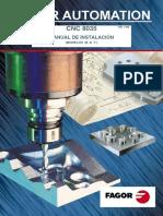 Manual Fagor 8035 Fresadora