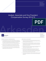 Arkesden Banking Analyst Associate and Vice President Compensation Survey 2014-15