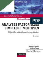 (Sciences Sup) Brigitte Escofier, Jérôme Pagès-Analyses Factorielles Simples Et Multiples _ Objectifs, Méthodes Et Interprétation -Dunod (2008)