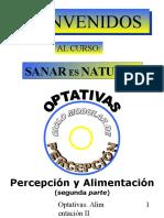 Sanar es Natural - Percepción y Alimentación II