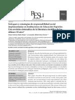 Enfoques y Estrategias de Responsabilidad Social Implementadas en Instituciones de Educación Superior.