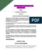Codigo Organico General de Procesos y Sus Concordancias
