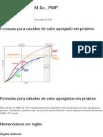 Fórmulas Para Cálculos de Valor Agregado Em Projetos _ Alvaro Camargo, M.sc