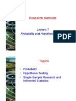 Lecture 7 - Hypothesis Testing