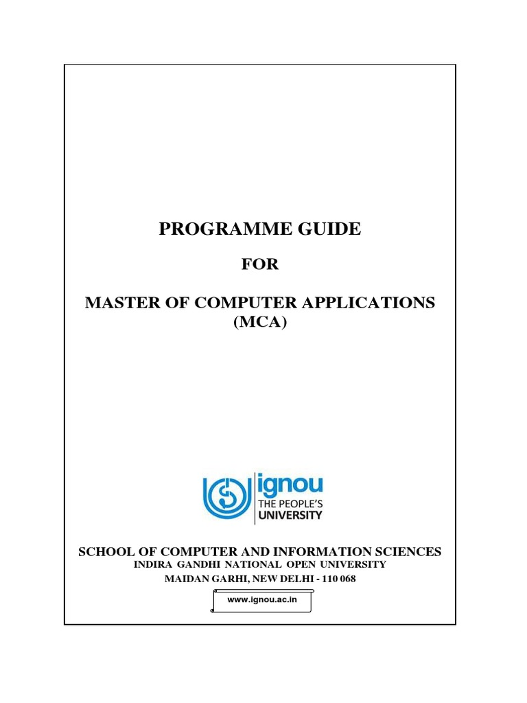 MCAPROGRAMME_GUIDEJuly2014 - final.pdf | C (Programming Language ...
