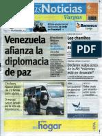 Últimas Noticias Vargas martes 6 de septiembre  de  2016