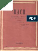 Bach - 23 pezzi facili per pianoforte