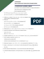 490432-1ª Lista Algebra Linear