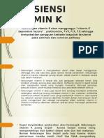 Defisiensi Dan Kelebihan Vitamin k