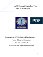Submission of Project Topic for the 3rd Sem Mini Project