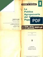 Política agraria del gobierno popular